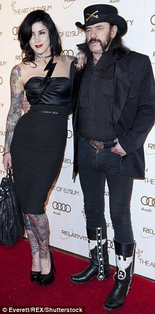 Ladies' man: Lemmy with tattoo  RIP  artist and TV personality Kat Von D at a 2012 event ...