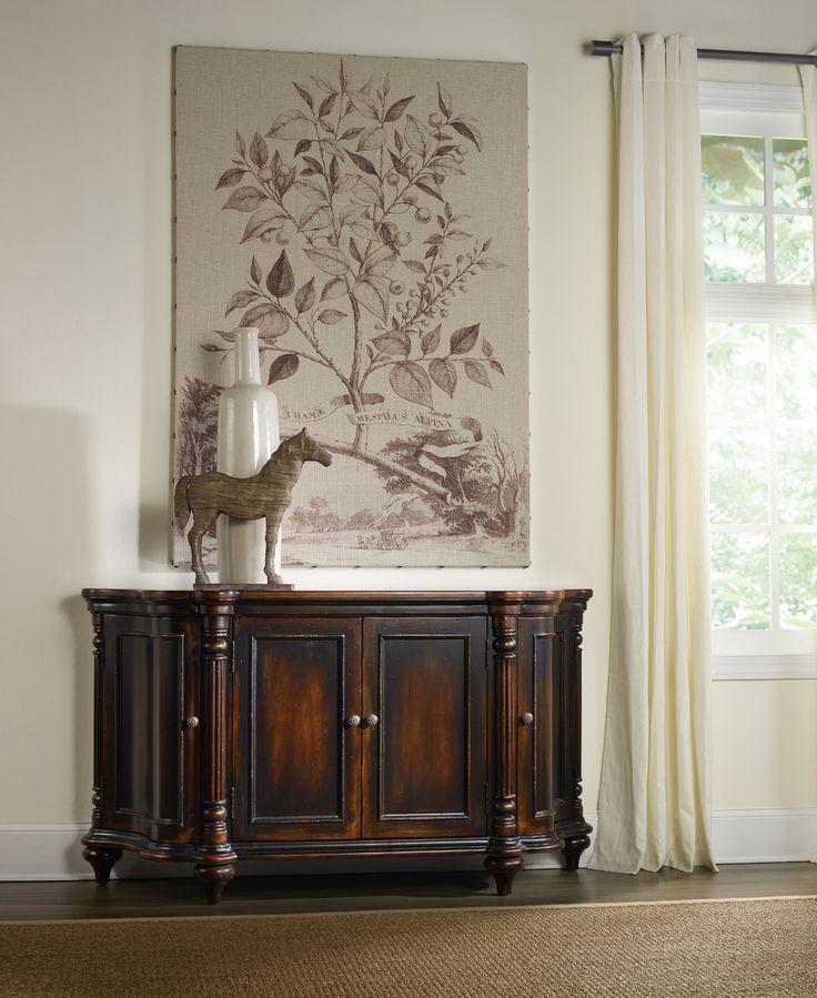 eastridge four door shaped credenza hooker furniture home gallery stores - Credenza Furniture