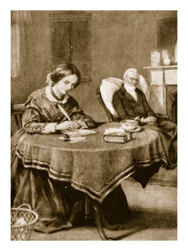 Charlotte Bronte Working on 'Jane Eyre'