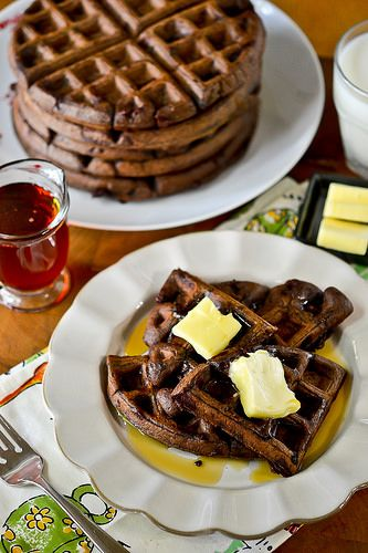 Dark Chocolate Waffles | Breakfast - Waffles, Pancakes, French Toast ...