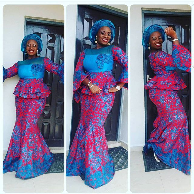 a0298017a1ed7 Check Out Beautiful Ankara Skirt and Blouse Styles Combinations 2018 -  DeZango Fashion Zone