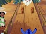 Juegos de Lilo y Stitch: Bolos, Lilo y Stitch en acción, juega a los bolos utilizando a Stitch como bola.