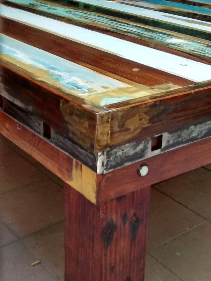 Mesa Ratona Living Madera Durmiente Patinada Demolicion - $ 9.500,00 en MercadoLibre