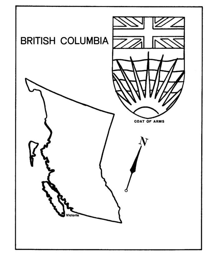 British Columbia - Map / Coat of Arms