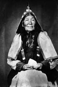 Micmac Indian woman, a First Nations people, indigenous to Canada's Maritime Provinces and the Gaspé Peninsula of Quebec.