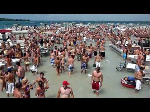 Torch Lake Michigan 4th Of July Party At The Sand Bar You