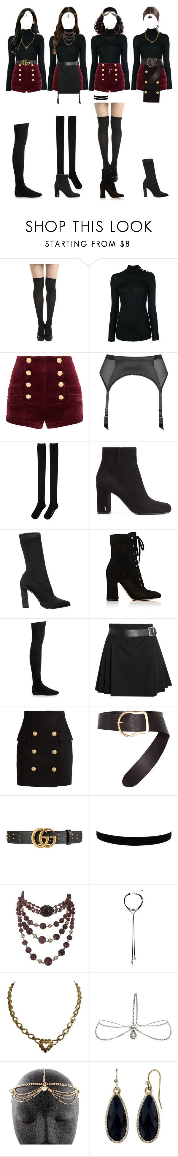 """""""[ live ] G-1 _ NIGHT pt.1"""" by xxzodiacentertainmentxx ❤ liked on Polyvore featuring Balmain, Pierre Balmain, L'Agent By Agent Provocateur, Hansel from Basel, Yves Saint Laurent, Calvin Klein Collection, Gianvito Rossi, Isabel Marant, Alexander McQueen and Dorothee Schumacher"""