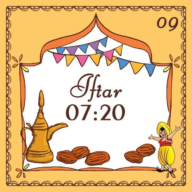 Today's Iftar Time for Karachi and Adjoining Areas is 7:20pm #RamazanDay09 #KarachiIftar
