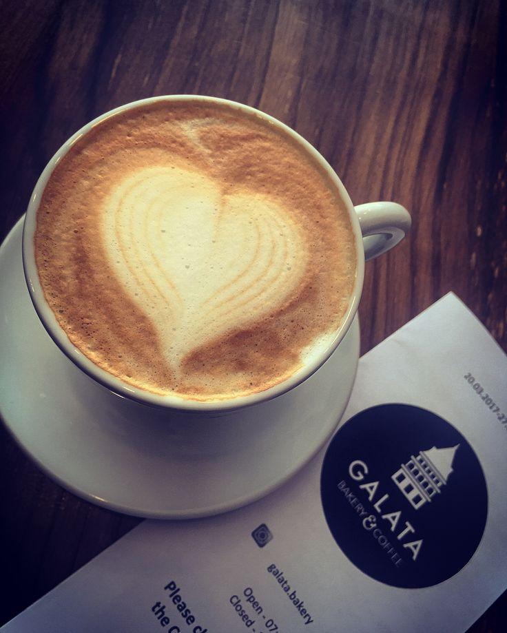 Loads of strong Love. Only @galata.bakery #braamfontein #johannesburg #galatabakery #cappuccino