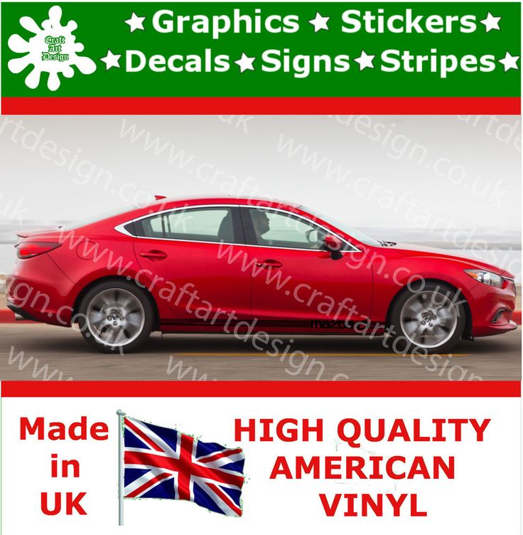 Racing stripes mazda side car stickers large vinyl rally race car decals jdm 27