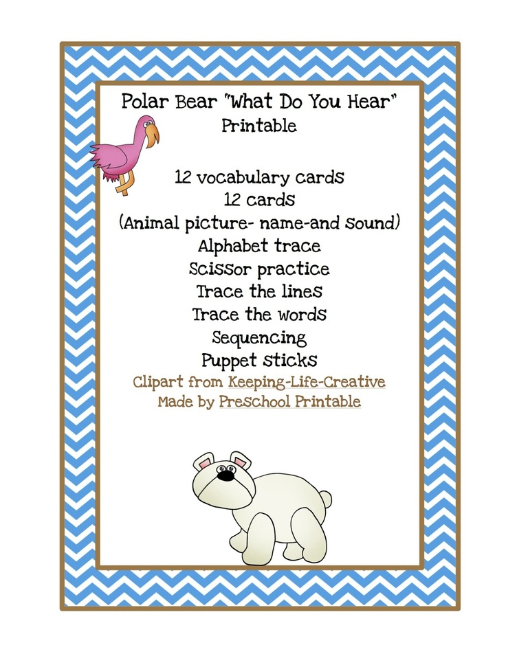 Polar Sequencing Cards Bear You Polar What Hear Bear Do