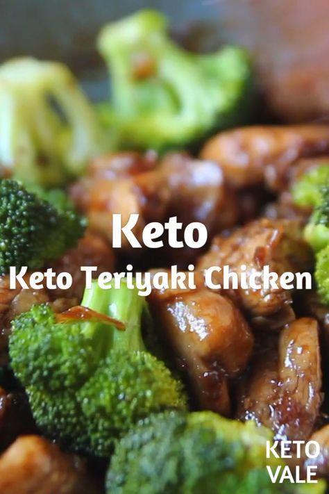 Keto Teriyaki Chicken Thighs with Broccoli Low Carb recipe for Keto diet #keto #...