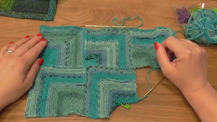 Modulové pletení - spojování čtverců 1.  - knitting squares