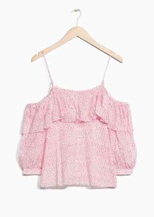 & Other Stories image 2 of Frilled Blouse in Pink Print