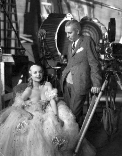 Carole Lombard and Director Howard Hawks on the set of Twentieth Century.