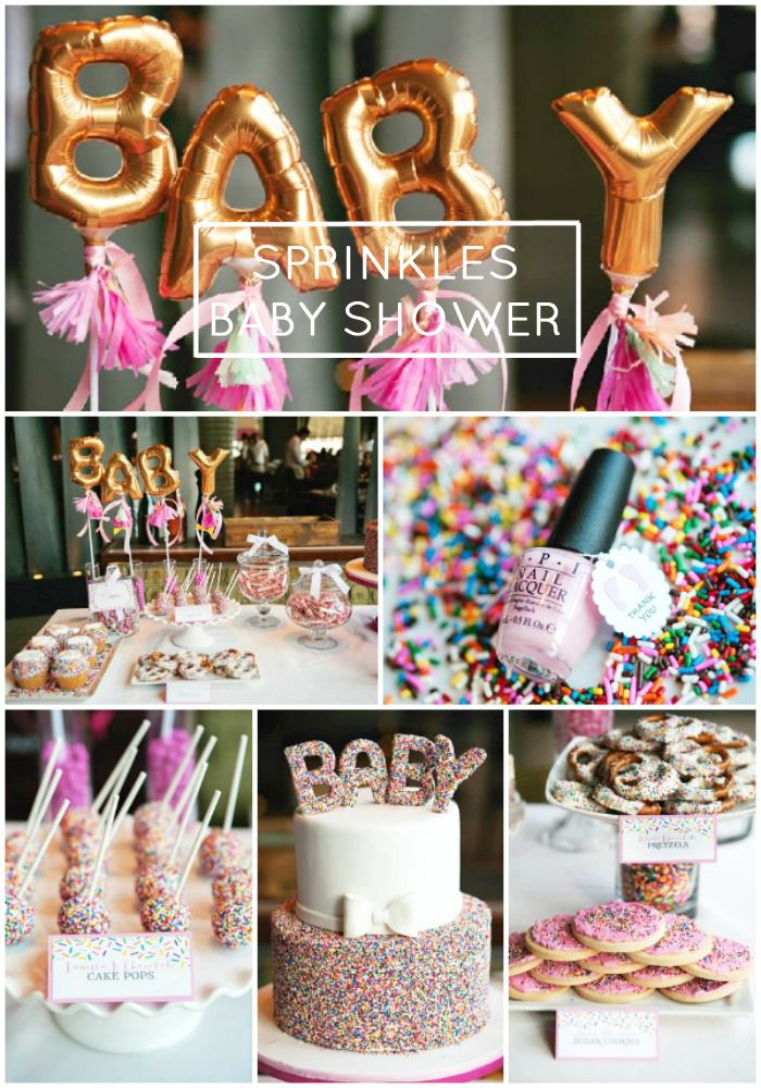 "Sprinkle showers: Next year's forecast calls for two types of baby shower sprinkles: Lightweight and low key, or rainbow sprinkle themed (saves for ""sprinkle baby shower"" +180%)"