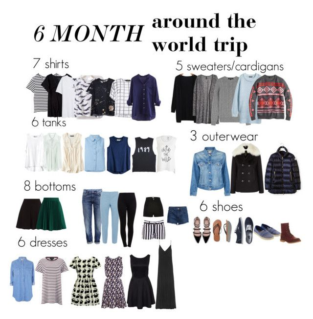 6 Months Around the World (Or year-round capsule) Mr. Mrs. Globetrot http://www.mrmrsglobetrot.com/2011/02/whats-in-my-suitcase.html