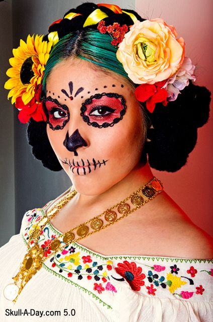 Sugar Skull Makeup that doesn't require a white base