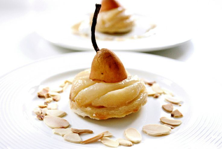 Salted Caramel Pear Tart | Vegan Dessert Recipes | Pinterest