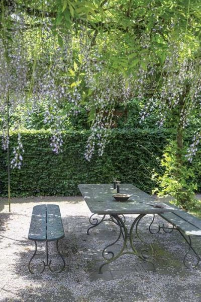 Garden table and bench