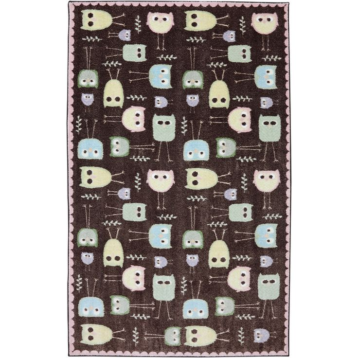 Mohawk Home American Rug Craftsmen Crib 2 College Baby Owls Rug