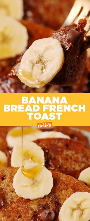Banana Bread + French Toast = genius. Get the recipe from Delish.com.