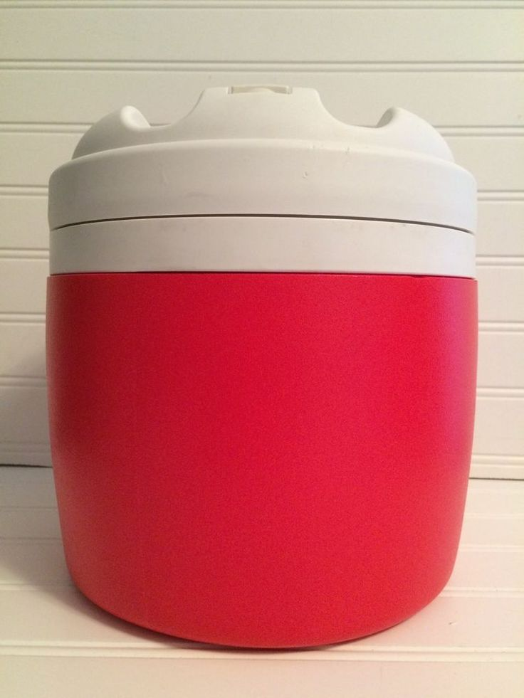 Igloo Elite 1 Gallon Thermos Water Jug Cooler Dog K9 Training Red and White  #Igloo