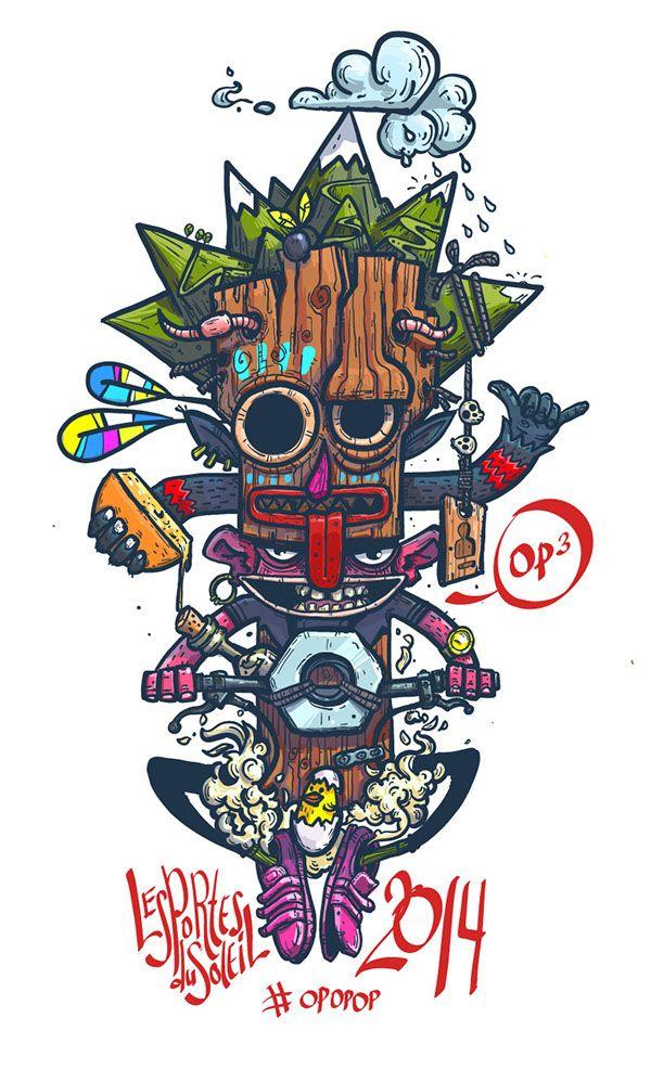 Print for t-shirt PDS 2014 by Konstantin Anufriev, via Behance