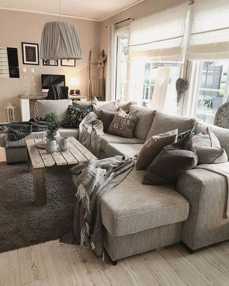 50 idées de décor de salle de séjour simple hiver génial que vous devez essayer