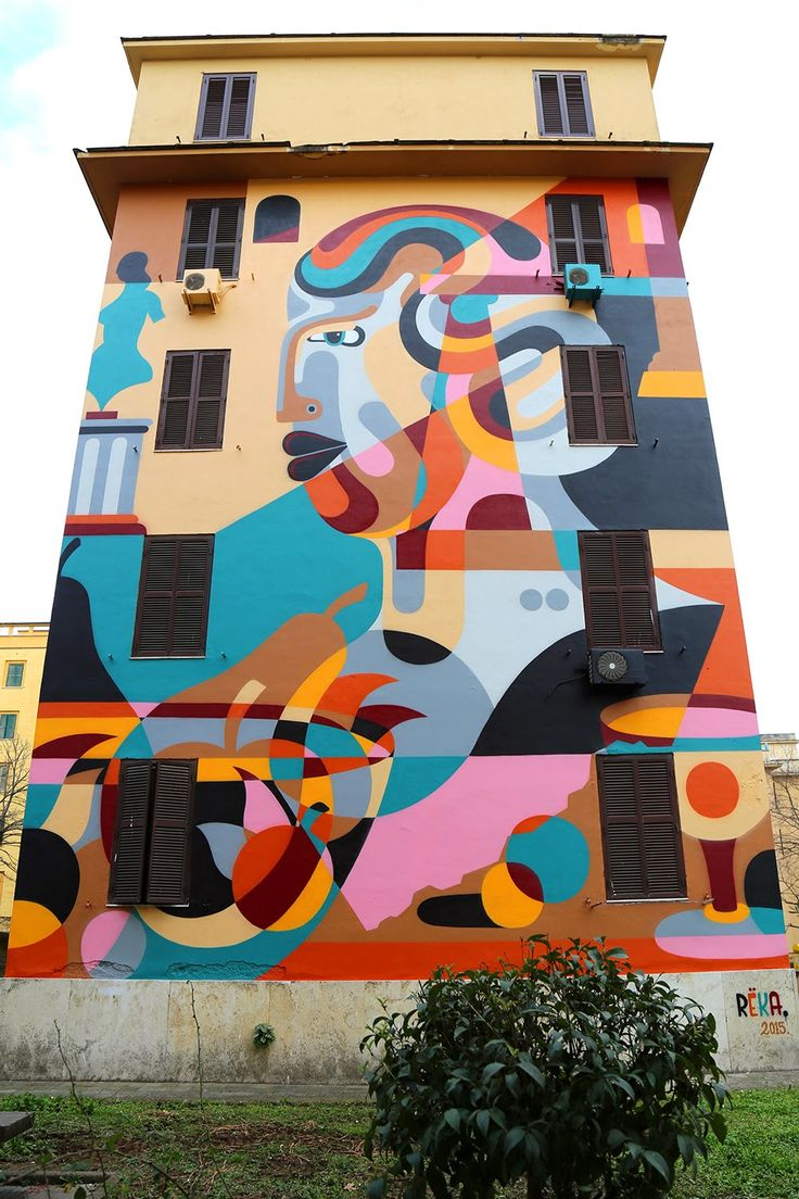 Reka paints a massive mural on the streets of Rome, Italy
