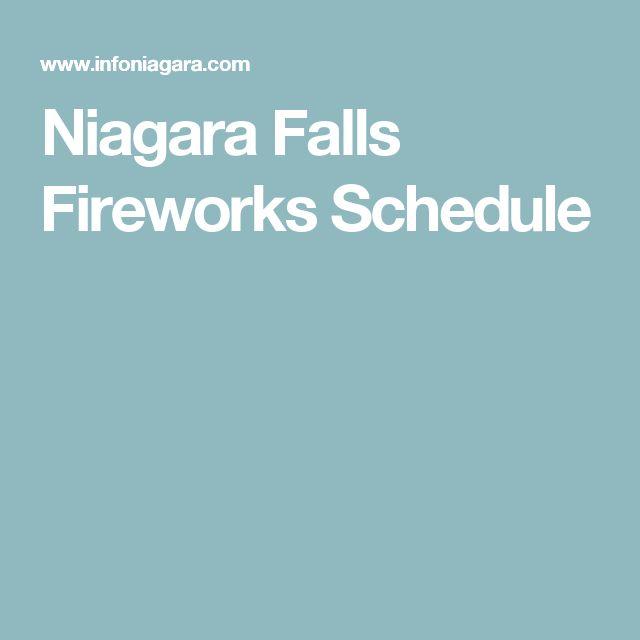 Niagara Falls Fireworks Schedule