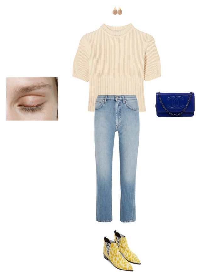 """""""go gina"""" by pieaah ❤ liked on Polyvore featuring Acne Studios, Totême, Alexis Bittar and Chanel"""