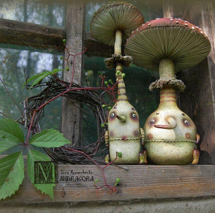 509 отметок «Нравится», 35 комментариев — Inna  Romanchenko (@mandragora_root) в Instagram: «Семья Poison , он-Мухомор, а она его любимая -Поганка ! Poison's family. #мандрагоринычудовища…»