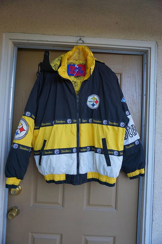 outlet store cc37a 5bcd2 Pittsburgh Steelers Vtg Pro Player Football Winter Puffer ...