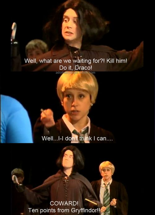 I freaking love A Very Potter Musical/Sequel. Lauren Lopez as Draco is the greatest thing! And ten points from Gryffindor? Lord that kids me.