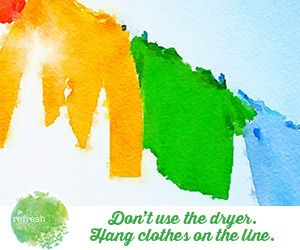 Here's some great ways to do without the dryer: http://www.therefreshproject.com.au/refresh-go-green/save-energy-and-dont-use-the-dryer/
