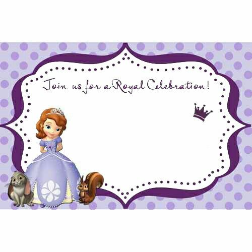 74 best sofia bday party images on pinterest | sofia the first, Party invitations