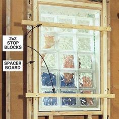 how to install glass block window. for, ya know, when I build my backyard cottage...