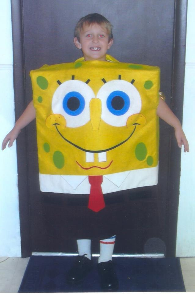 SpongeBob Halloween costume for my son -- created by Tanya