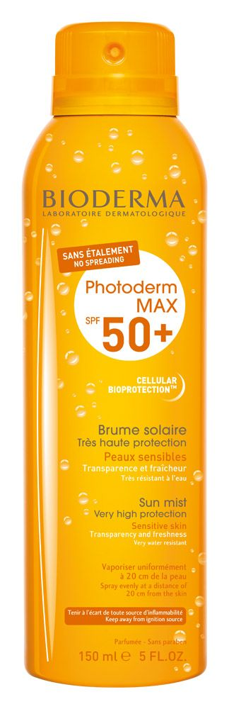 4700  Dermashop.hu Bioderma Webáruház Webáruház -  BIODERMA Photoderm MAX Brume Solaire SPF 50+ 150 ml Fényvédő testpermet, láthatatlan textúra, amely szétkenést nem igényel.<br /> Nagyon magas fényvédelem SPF 50+ fényvédő faktorral és egyedülállóan magas UVA 29(PPD) ...