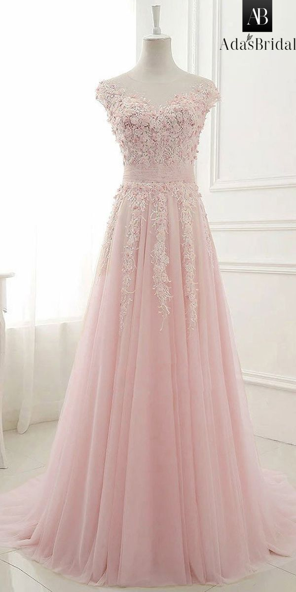 2fa7b143256 Amazing Tulle Jewel Neckline A-line Wedding Dress With Lace Appliques   3D  Flowers   Beadings