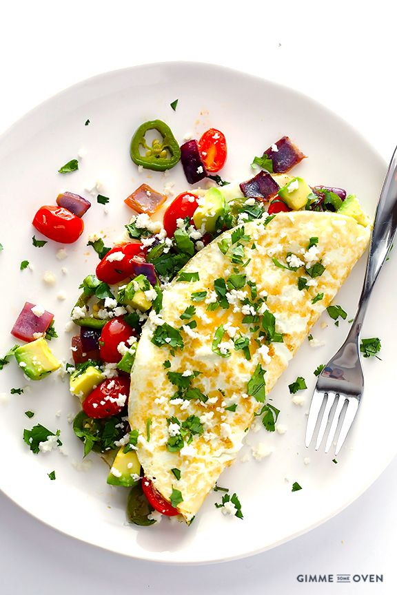 This Mexican Egg White Omelet is simple to make, naturally gluten-free, and made with the most delicious fresh ingredients.