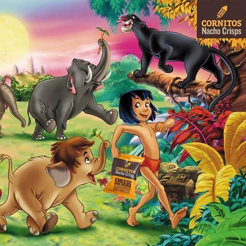 Even Mowgli loves CORNITOS! Nachos Crisps
