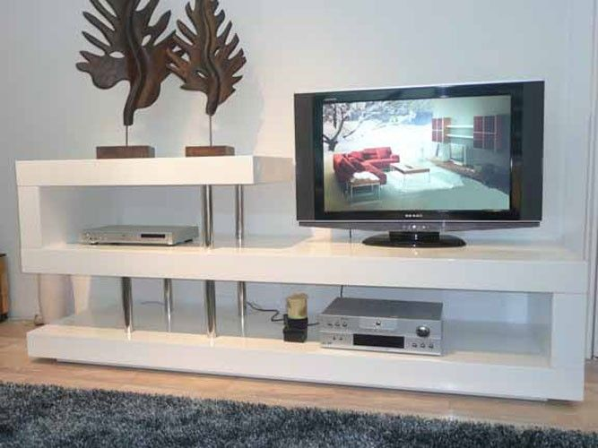 Modern White Lacquer Tv Stand Ideas Furniture Units Unique Stands