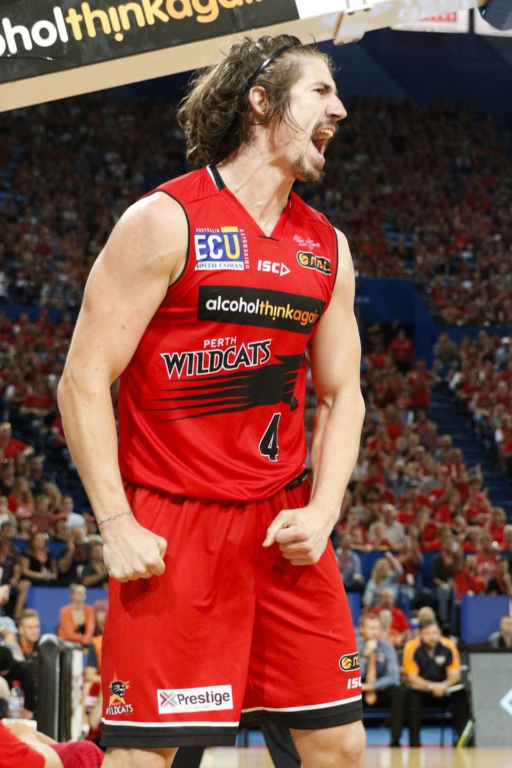 He's back! Greg Hire was pumped to return to the court after missing 18 games with a calf injury. Photo Tomasz Gregorczyk/Perth Wildcats