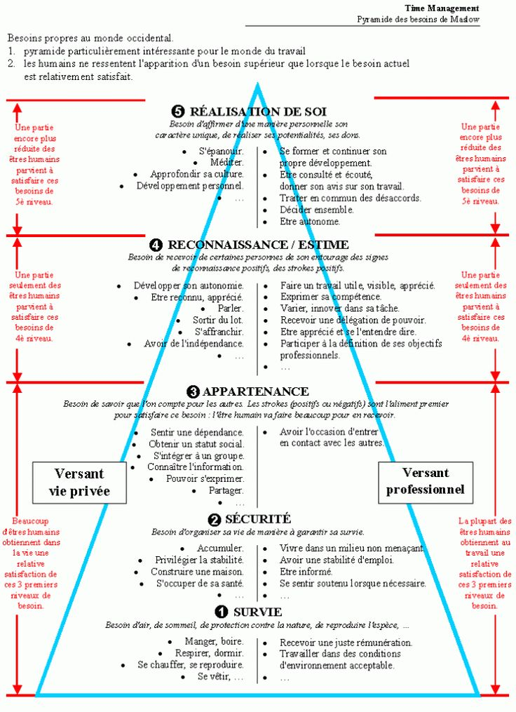 pyramide de Maslow XXI