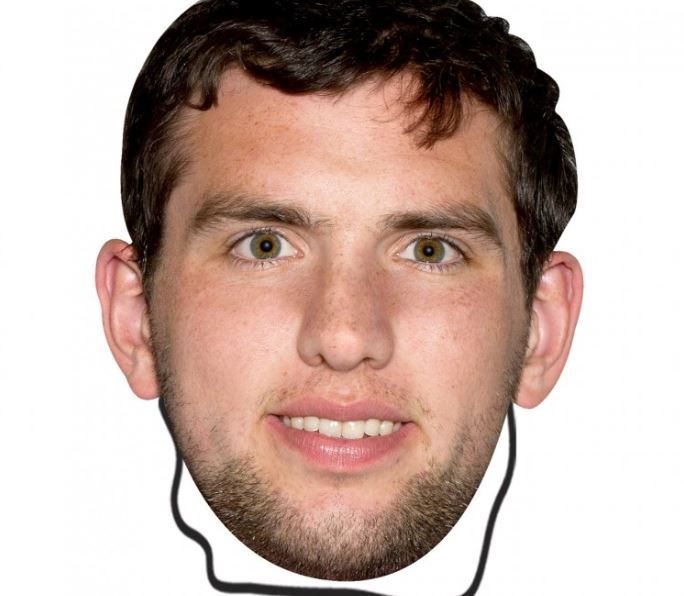 Indianapolis Colts Andrew Luck Bleacher Mask - $11.99 | Colts ...