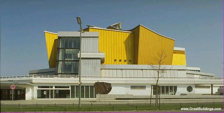 Berliner Phiharmonic (Berliner Philharmoniker), 1963 by Hans Scharoun, Berlin, Germany