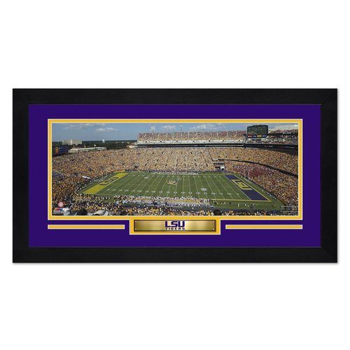 LSU Tigers Print 13x7 Framed Tiger Stadium Design