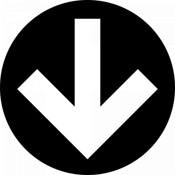 16 Down Arrow Icon White Png Down Arrow Icon Down Arrow Icon